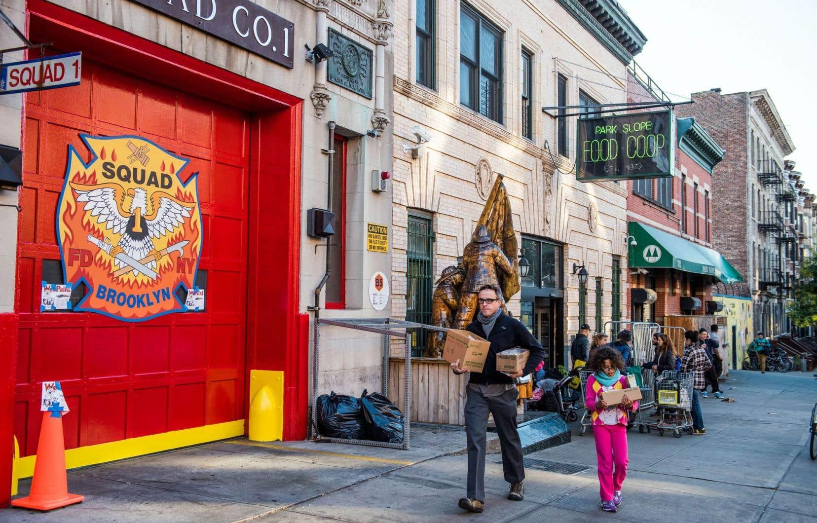 En 2000, la Park Slope Food Coop a doublé l'espace de son magasin situé dans la rue Union, entre les 6eet 7eavenues à Brooklyn, passant de 500 à 1000 mètres carrés.