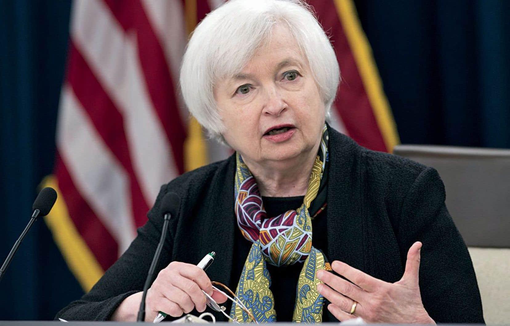 Janet Yellen prend bonne note de l'amélioration de l'économie américaine, notamment du marché de l'emploi.