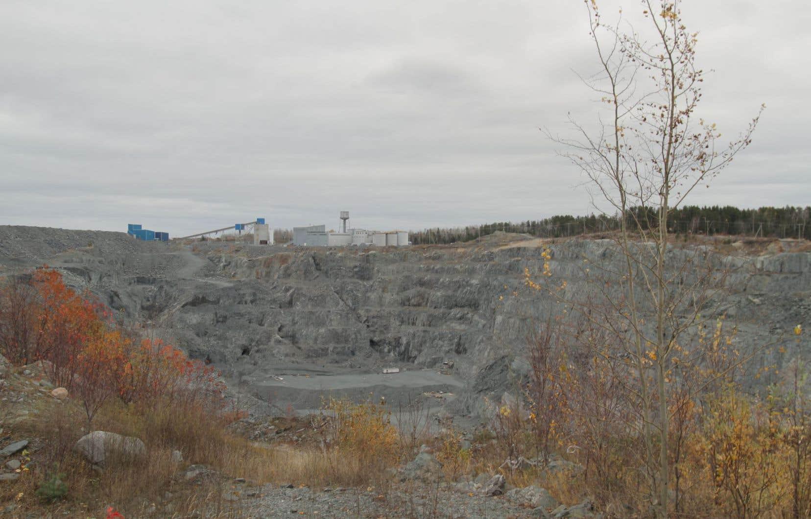Un site minier abandonné en Abitibi