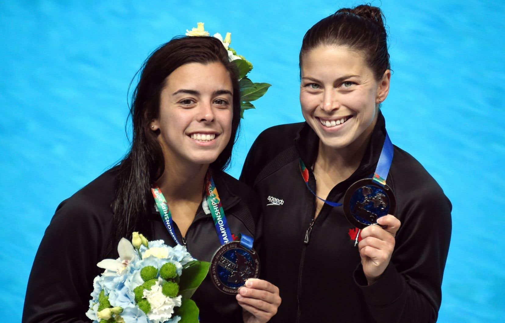 Meaghan Benfeito et Roseline Filion