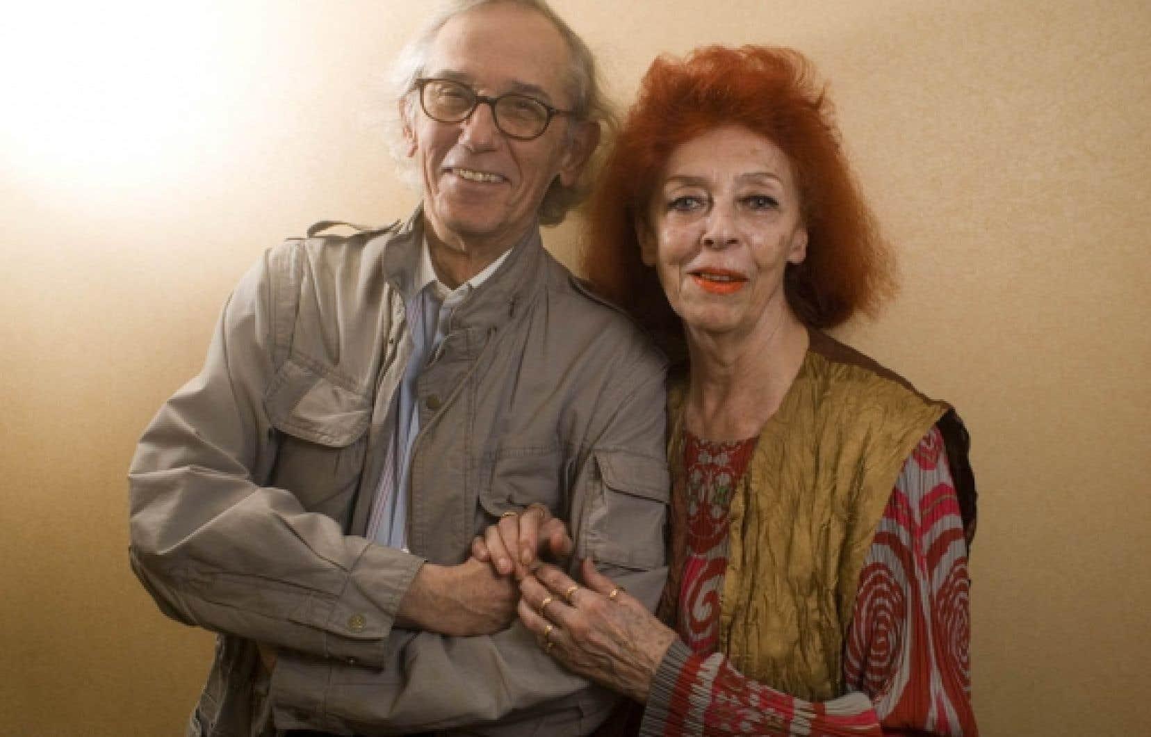 Christo et Jeanne-Claude, de passage à Montréal en 2008