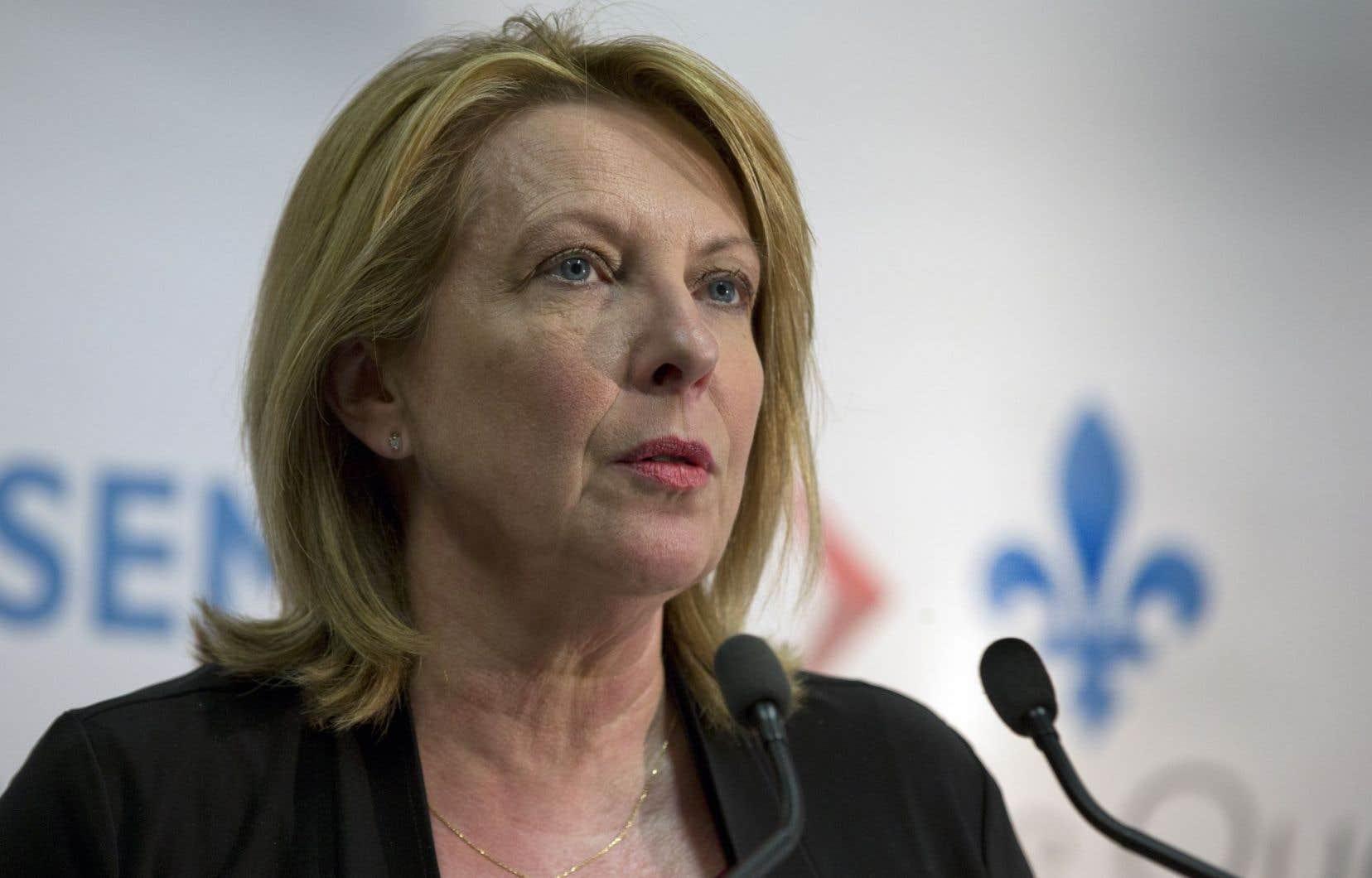 La ministre des Relations internationales et de la Francophonie, Christine St-Pierre