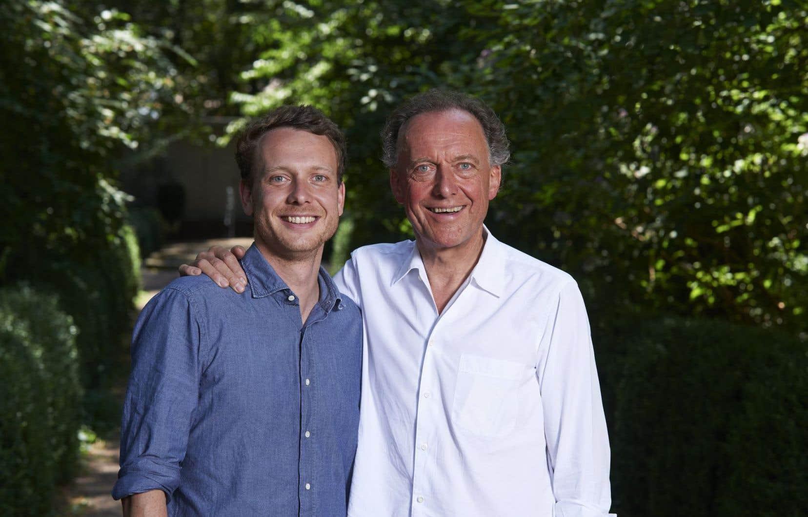 Aloïs-Clemens et son père Aloïs Lageder