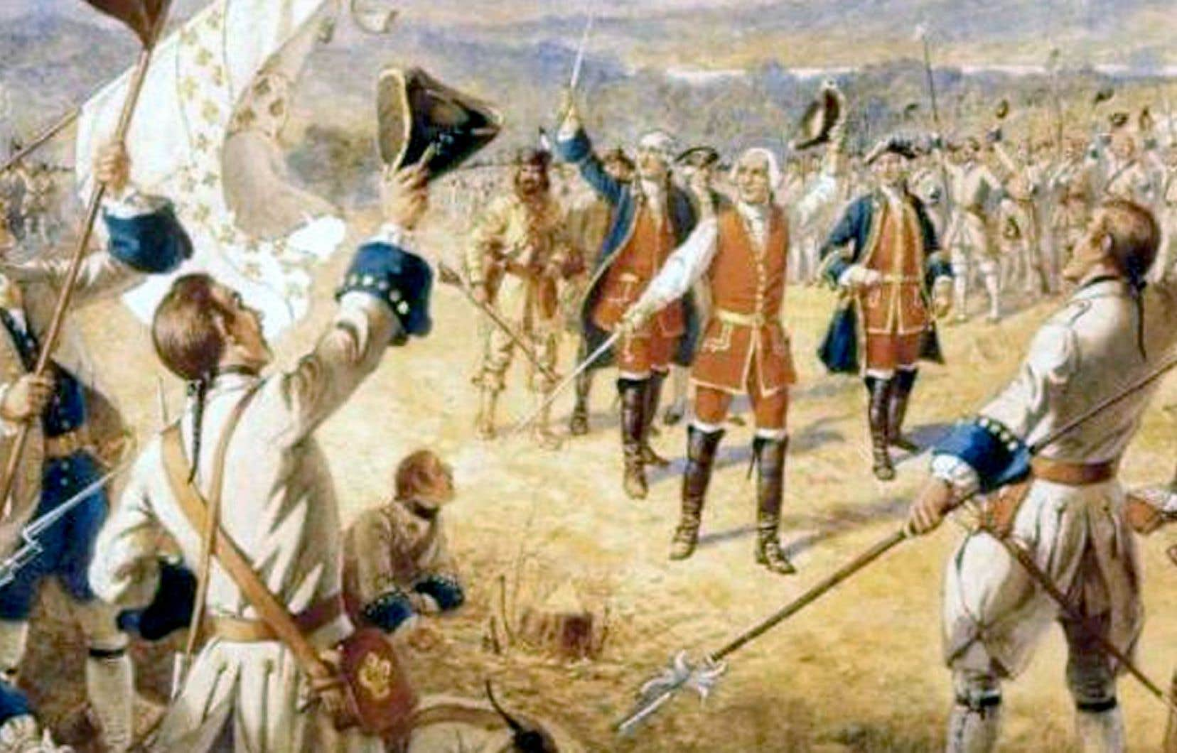 «Victoire des troupes de Montcalm à Carillon», Henry Alexander Ogden