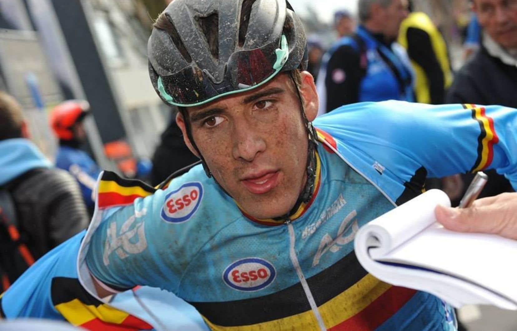 Le coureur cycliste belge Daan Myngheer