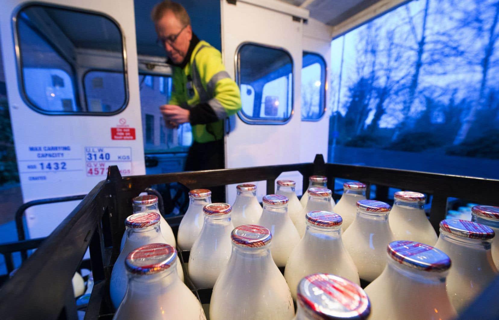 Neil Garner, 57ans, a été désigné «Laitier de l'année» par les clients de Milk and More, principale société de livraison à domicile.