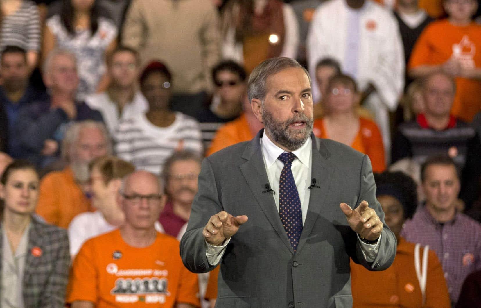 Thomas Mulcair, le chef néodémocrate lors de la plus récente campagne électorale fédérale.