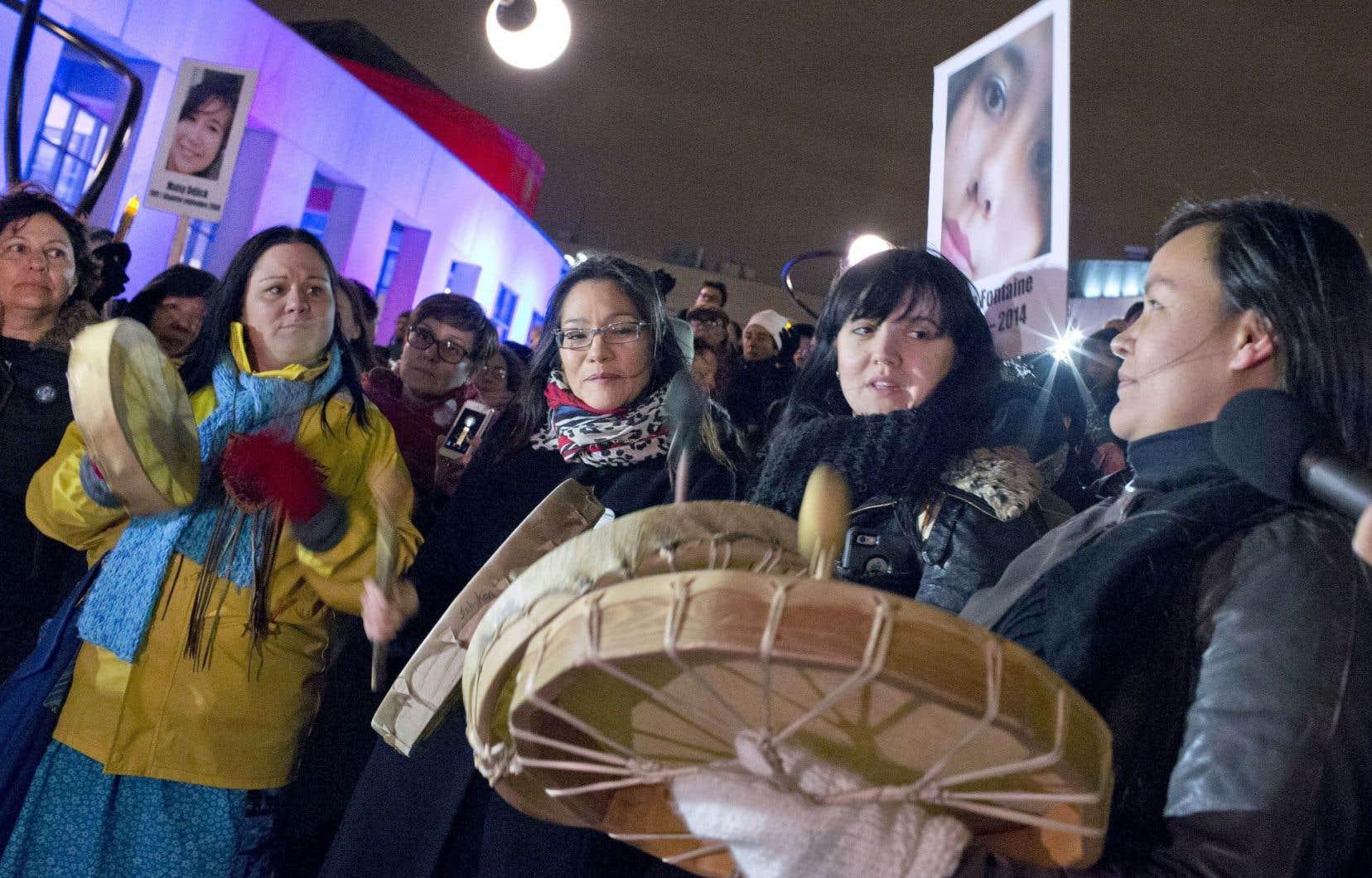 Vigile en mémoire des femmes autochtones disparues et assassinées, le 31 octobre à Montréal