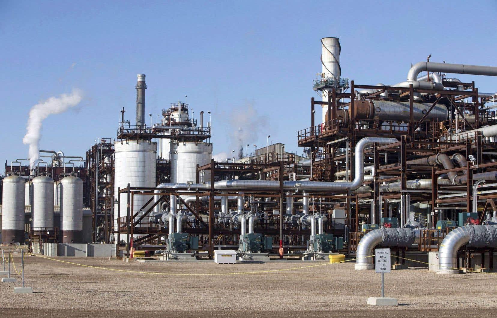 Le centre de captage et de stockage du carbone Quest, à Fort Saskatchewan, en Alberta