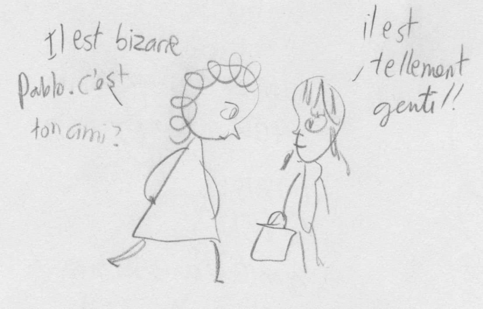 Esquisses de Catherine Lepage où perce un trait fin, épuré.