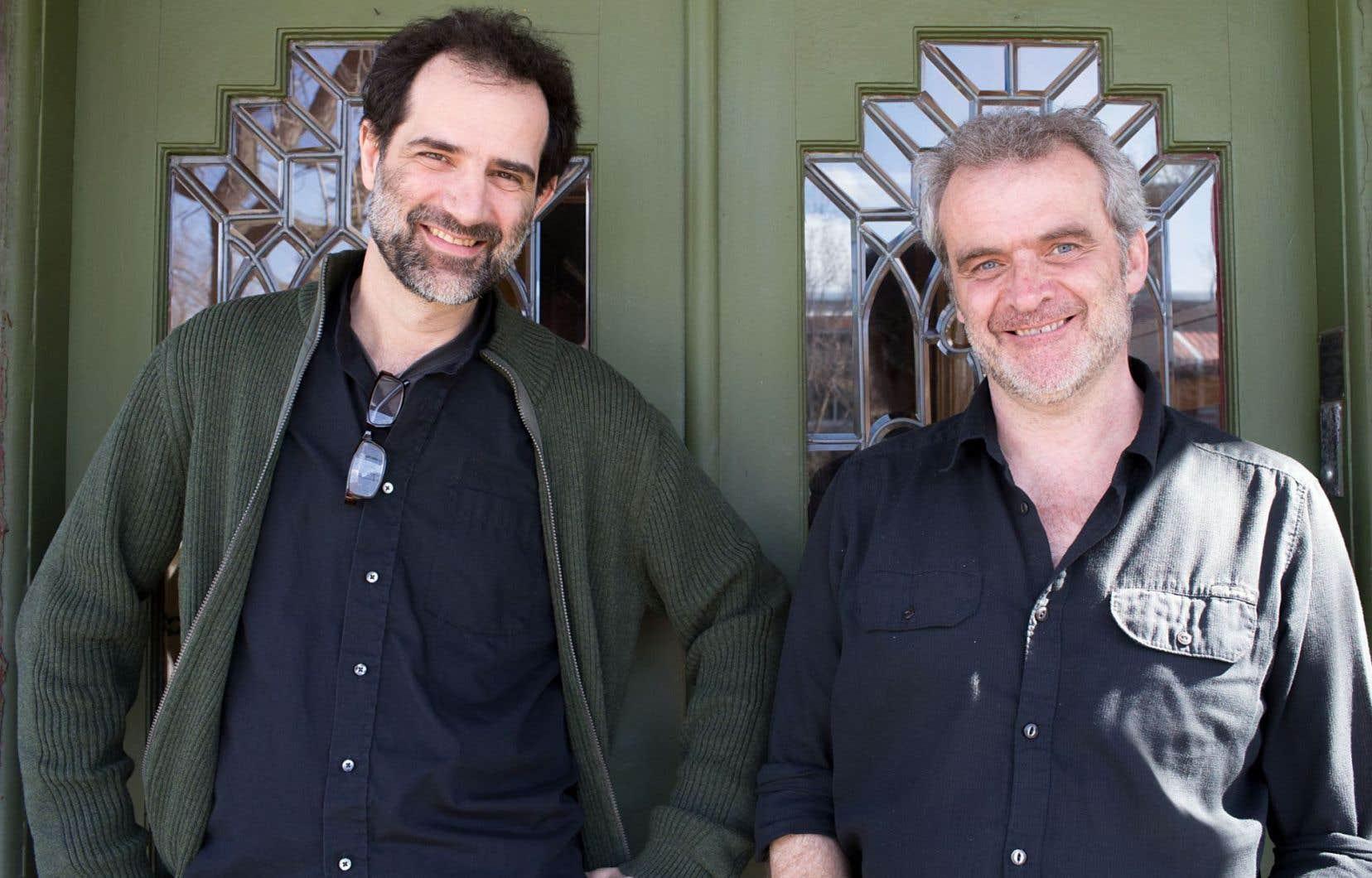 Le bédéiste Jean-Paul Eid et le dramaturge Claude Paiement sont complices depuis longtemps.