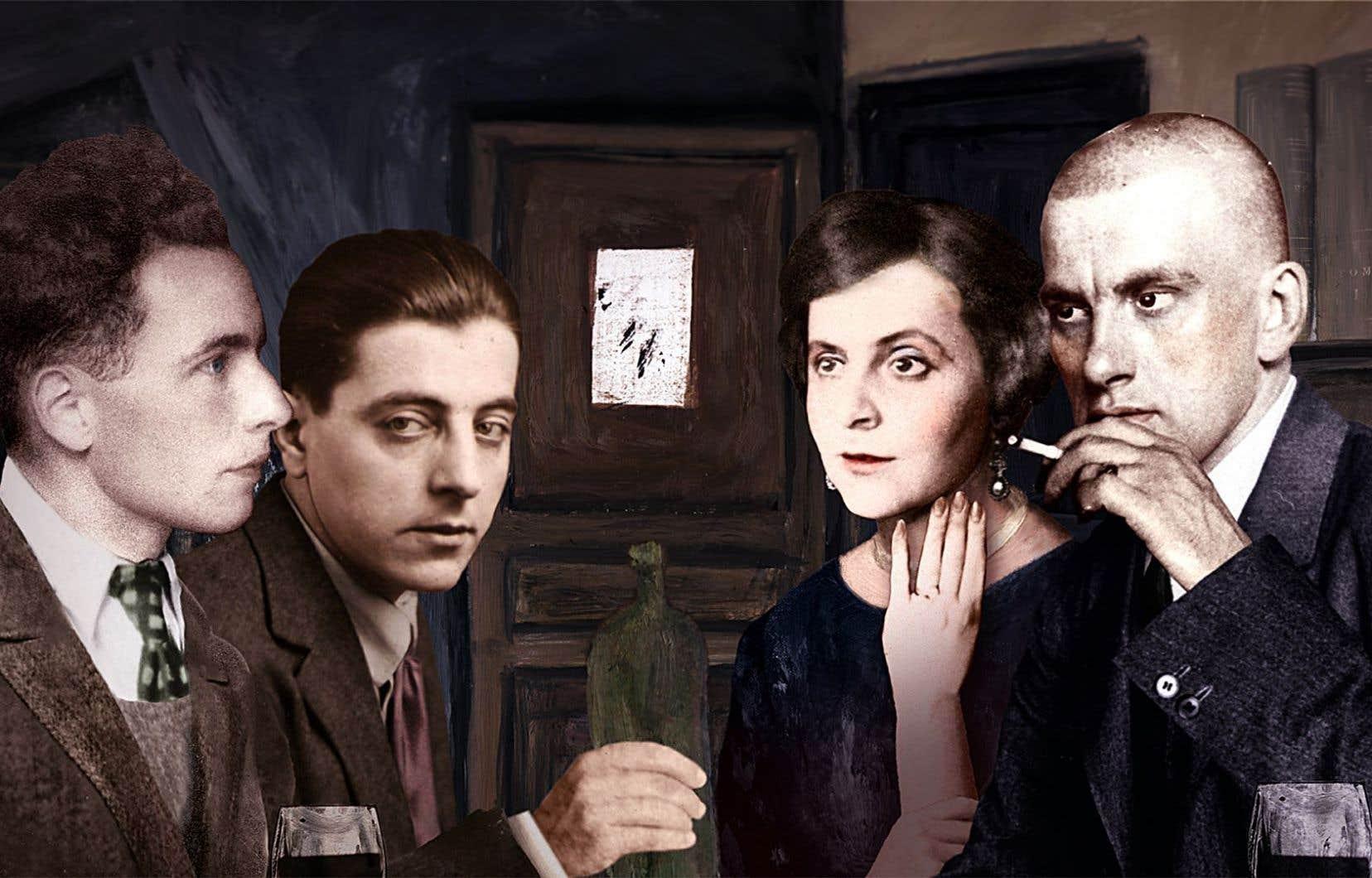 Dans «Les aventuriers de l'art moderne», on présente les protagonistes dans un mélange d'images d'archives, de photos colorisées et d'illustrations originales.