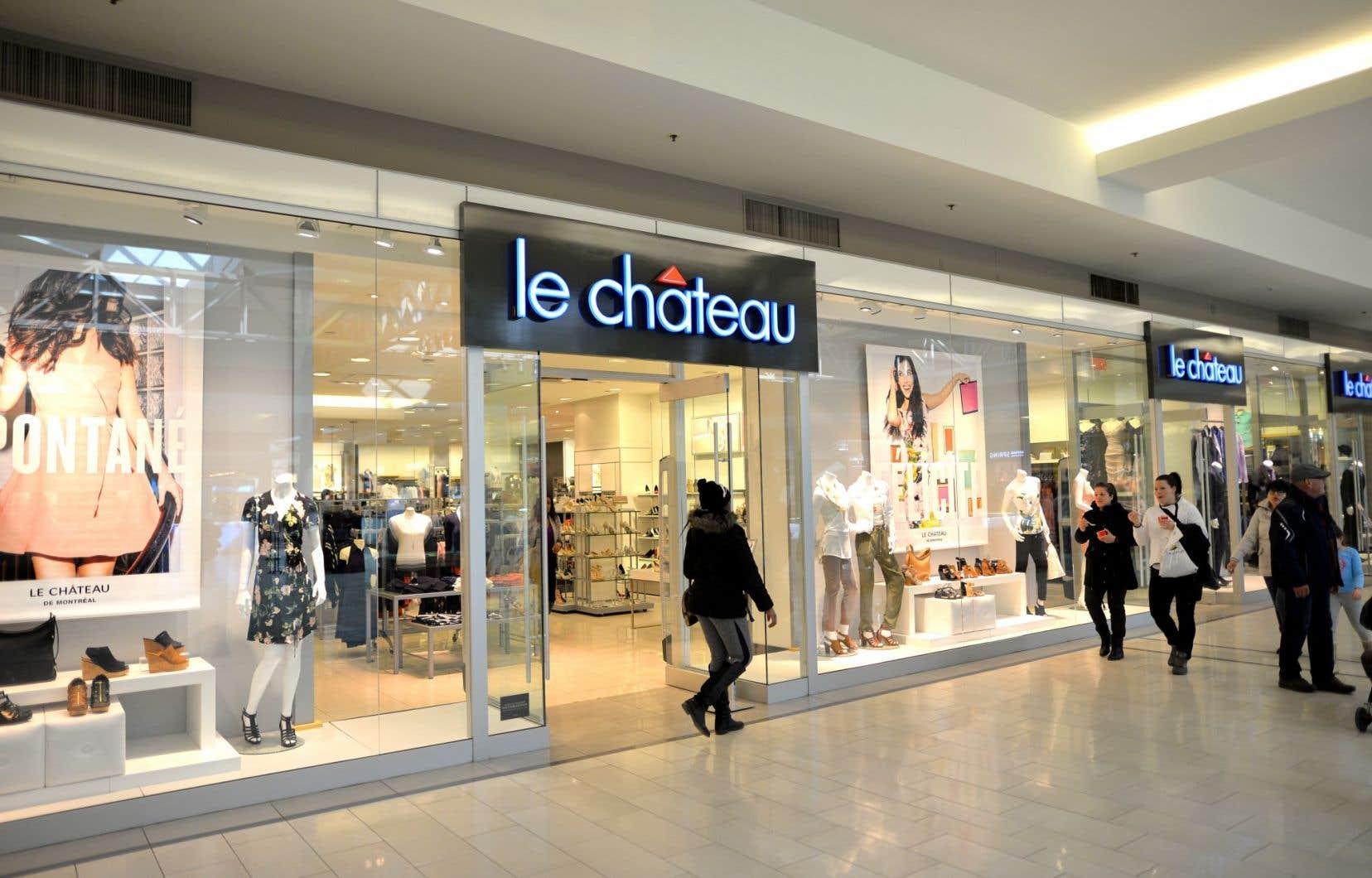 Le Château a rénové cinq magasins de centres urbains l'an dernier, en plus de lancer une campagne de marketing pour accroître la notoriété de sa marque.