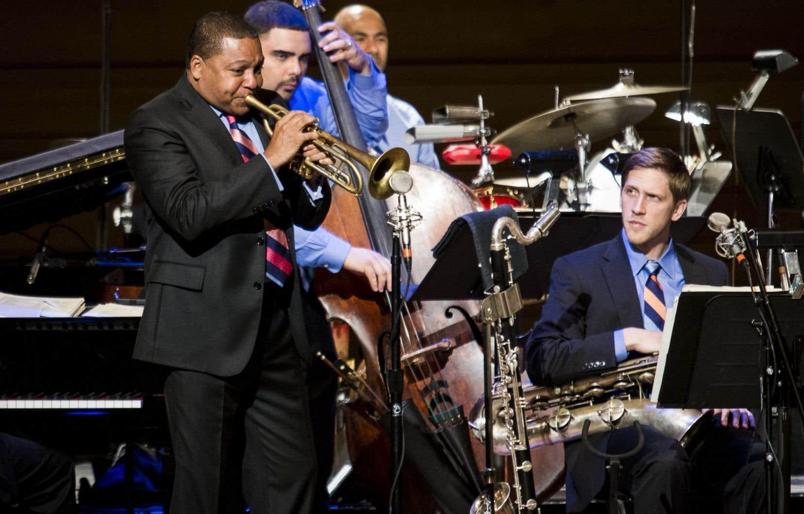 Wynton Marsalis au FIJM en 2013. Le très populaire trompettiste sera de retour avec le Jazz at Lincoln Center Orchestra trois ans après leur dernier passage.