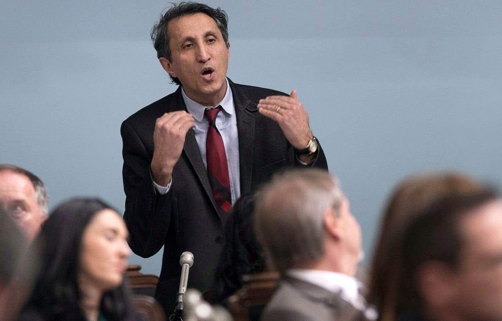 Le député de Québec solidaire Amir Khadir a constaté des «divergences sur l'orientation» entre son parti et le Parti québécois.
