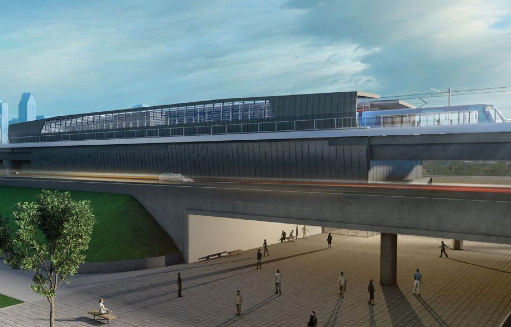 Le train électrique roulera sur un réseau de 67 kilomètres de Brossard à Sainte-Anne-de-Bellevue, en passant par l'aéroport Trudeau d'ici 2021.