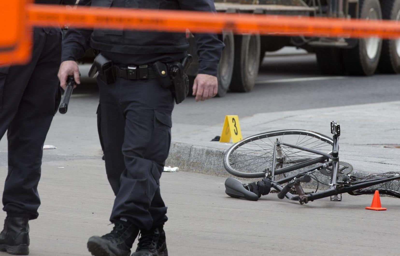 Lors de collisions entre un véhicule en acier et un être humain de chair et d'os, à pied ou à vélo, c'est ce dernier qui risque de perdre la vie...