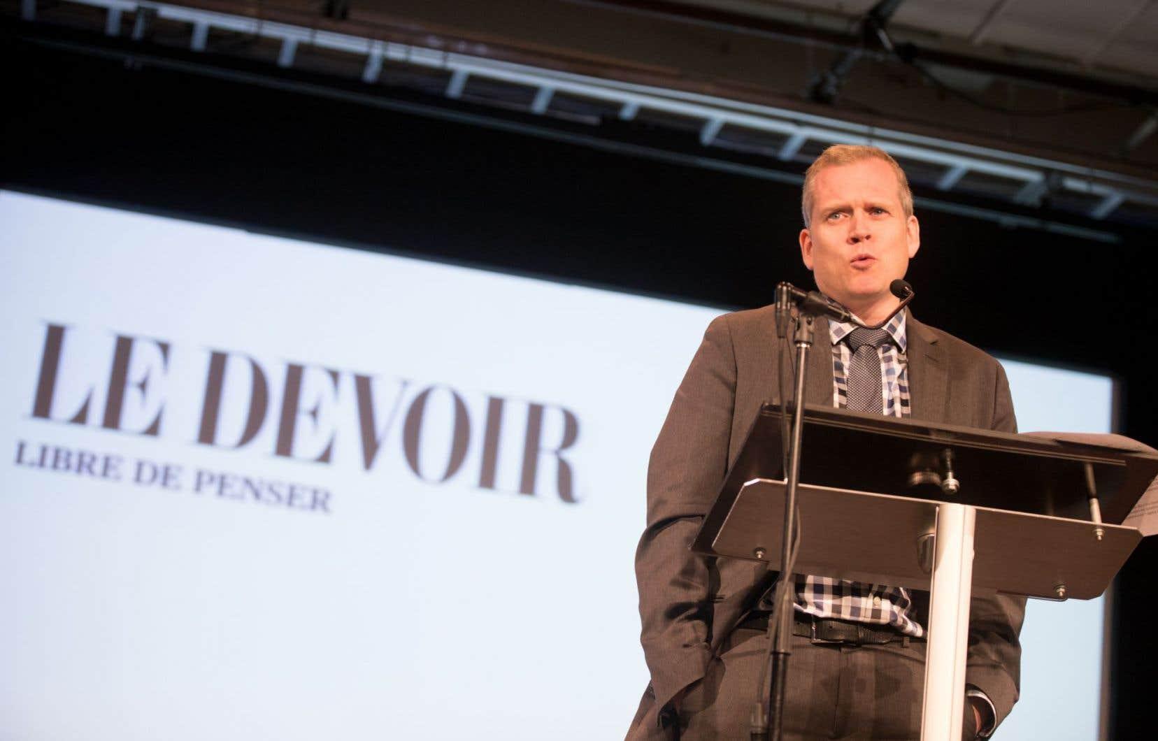 Le directeur du «Devoir», Brian Myles, réclame un nouveau soutien de l'État.