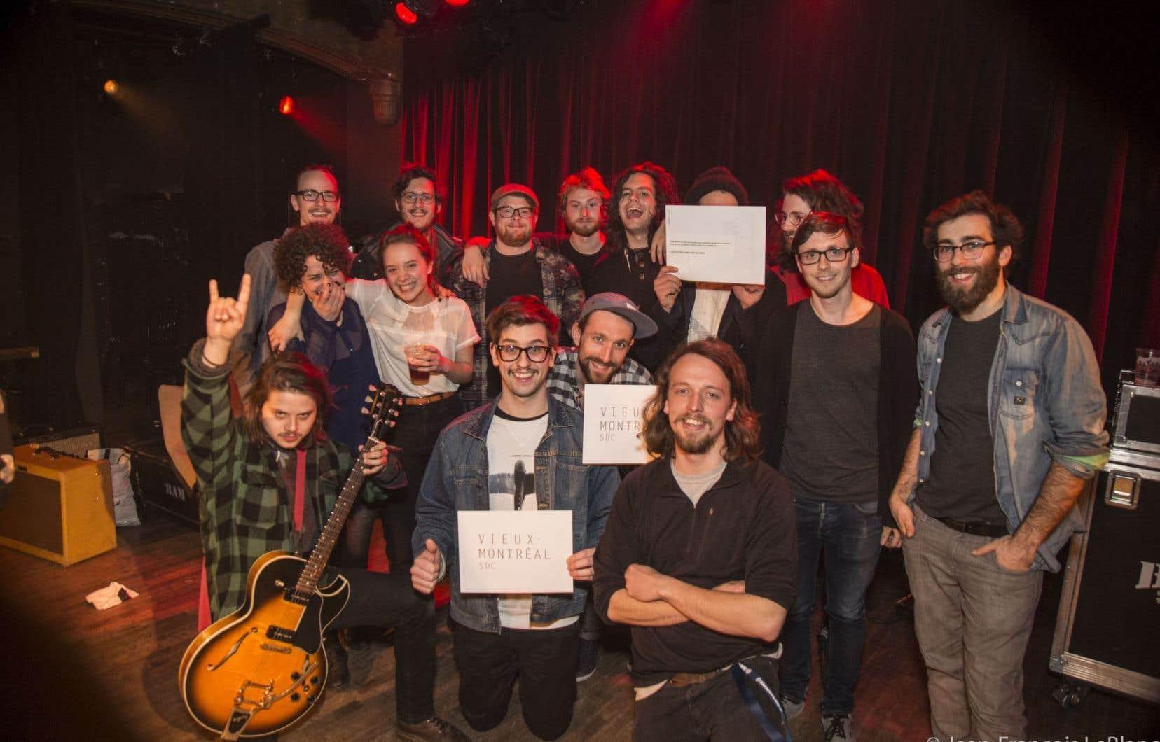 Photo de famille des finalistes