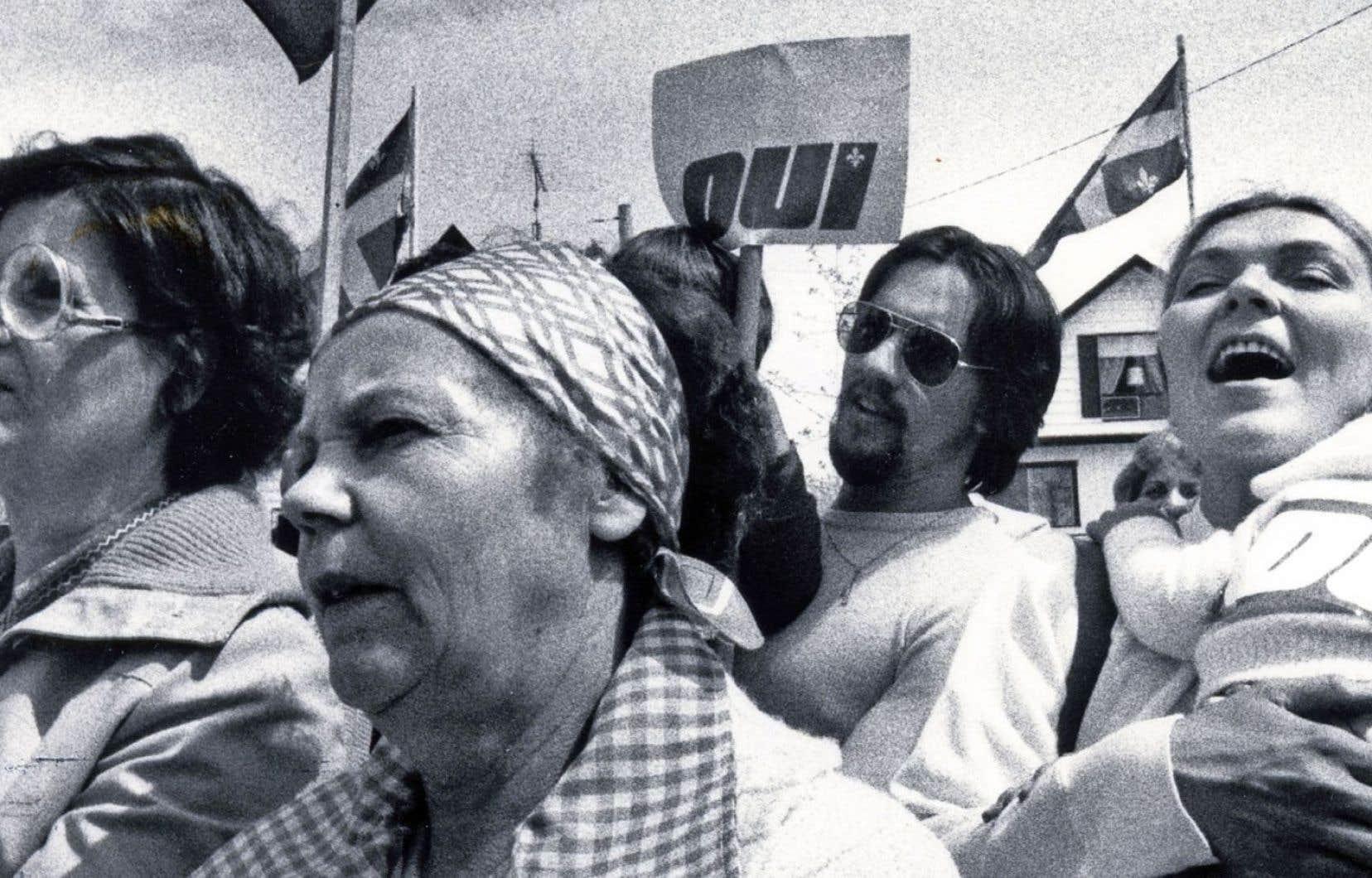 Manifestation en faveur du «Oui» en mai 1980