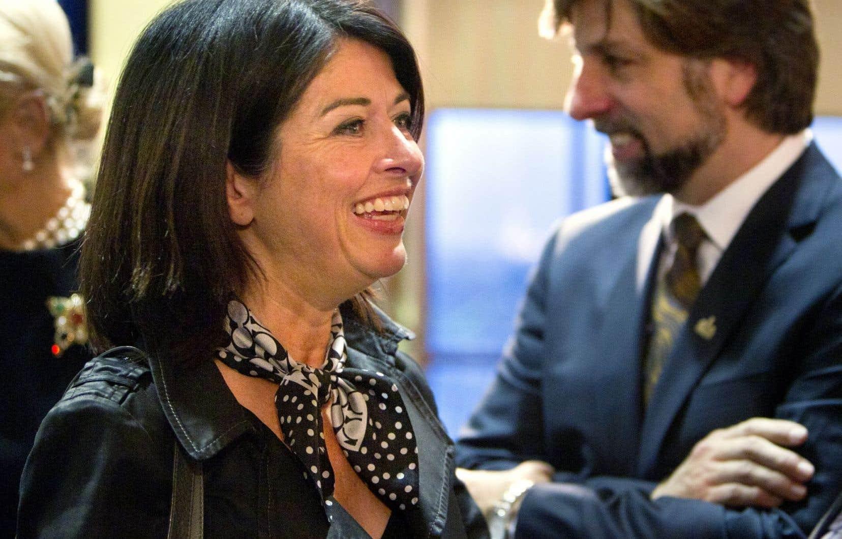 Line Beauchamp, âgée de 53 ans, a été députée de 1998 à 2012, d'abord pour la circonscription montréalaise de Sauvé, puis de Bourassa-Sauvé.