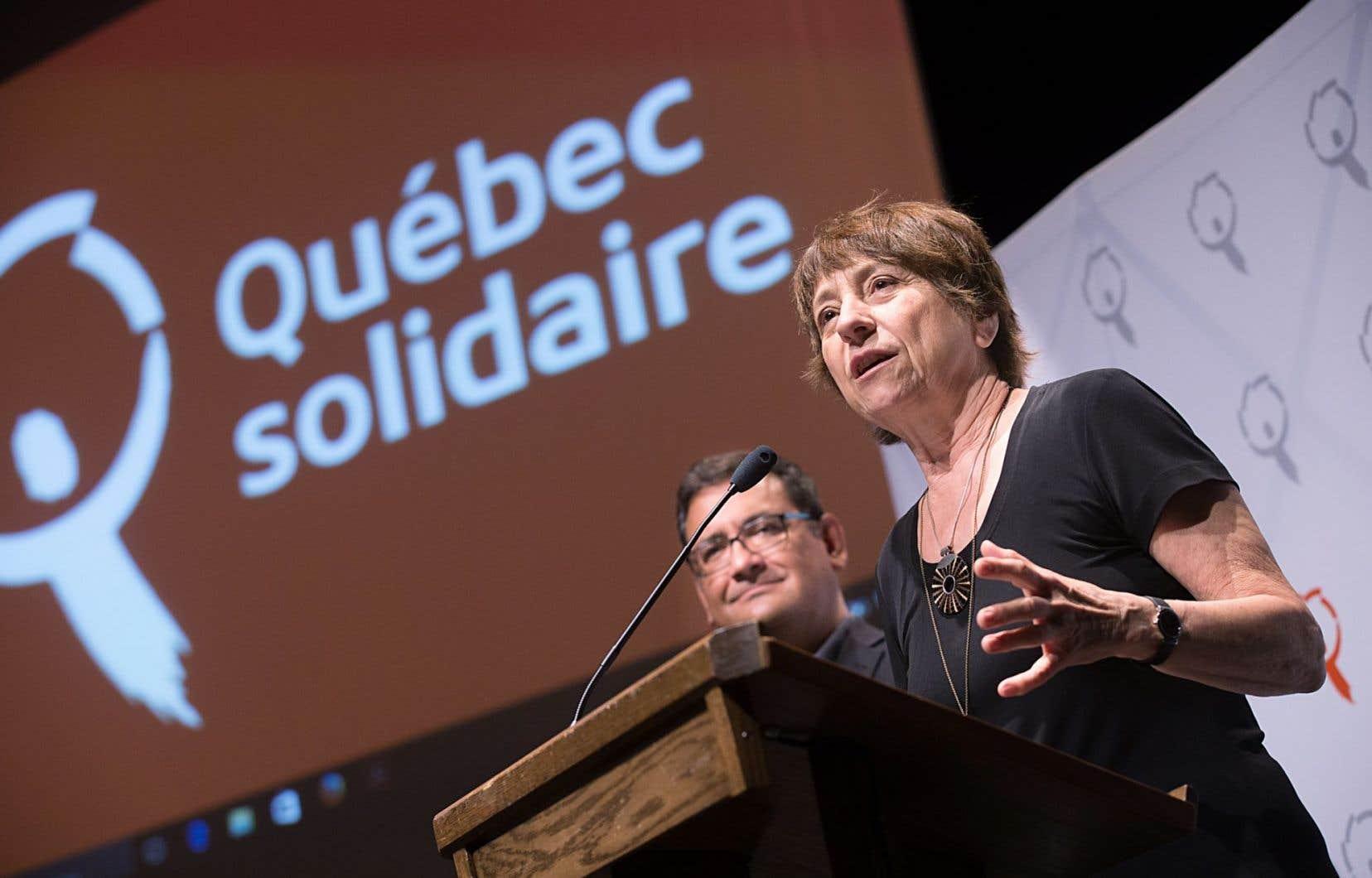 Françoise David n'a pas voulu confirmer qu'elle se présenterait aux élections de 2018.
