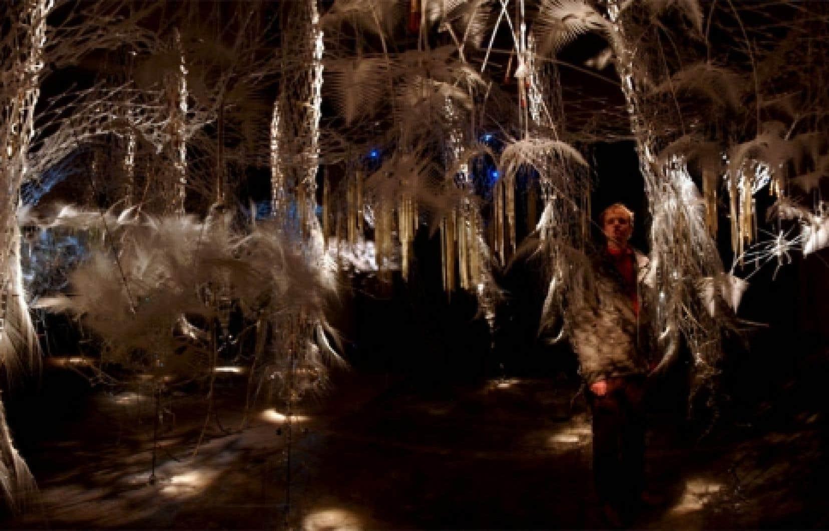 Hylozoic Ground  explore les qualités de la nature sauvage au moyen d'une installation immersive et numérique.