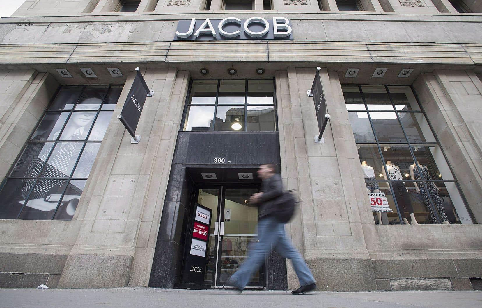 Jacob figure au nombre des commerces de détail qui ont éprouvé des difficultés.