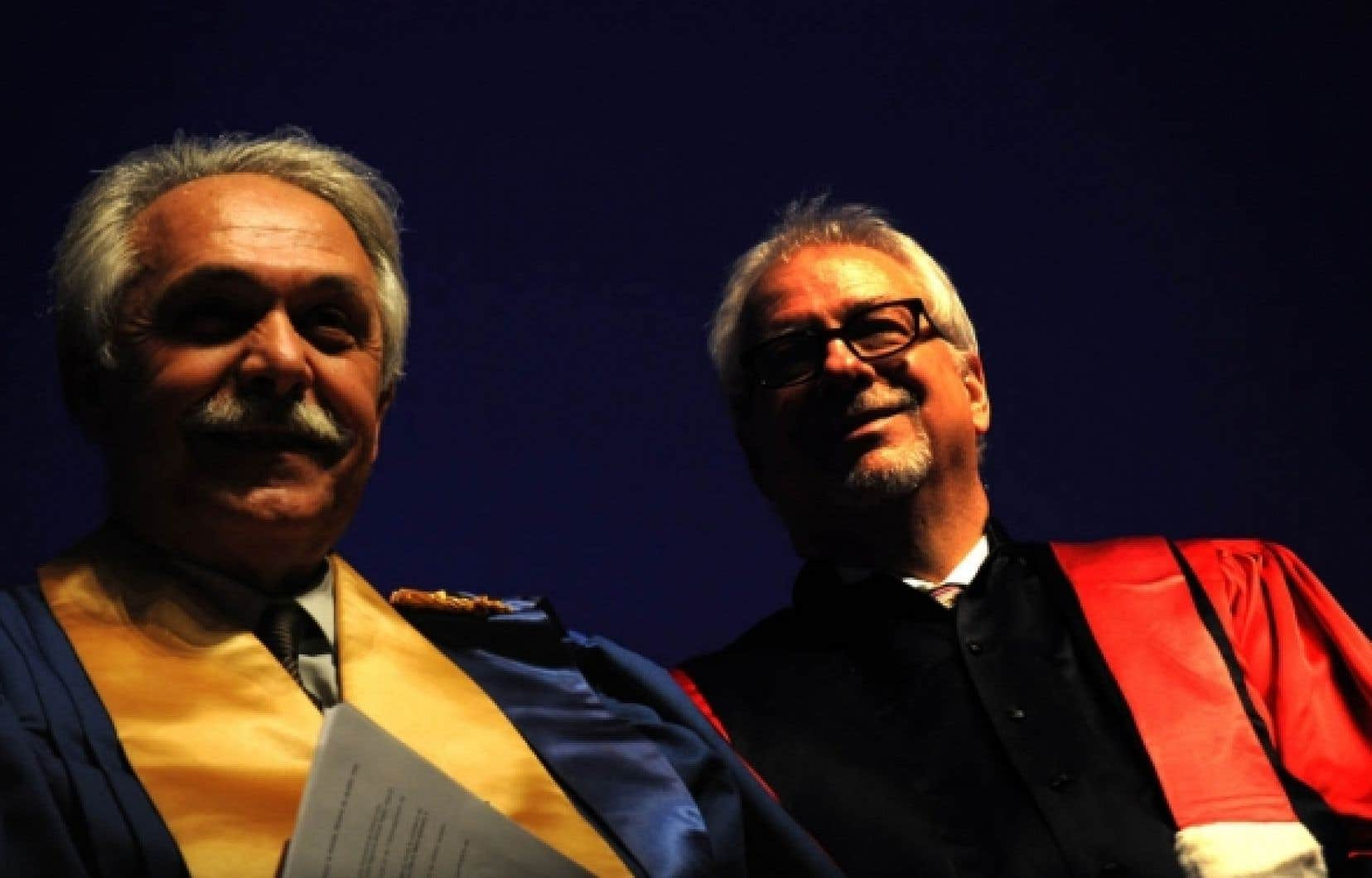 Alain Bideau et Pierre Marc Johnson, du Centre Jacques Cartier