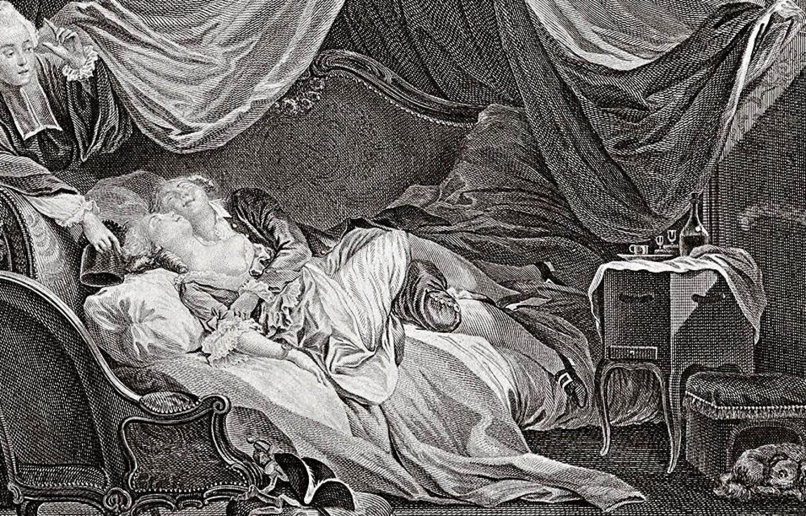 Une gravure tirée du coffret «Scènes du plaisir» de Patrick Wald Lasowski