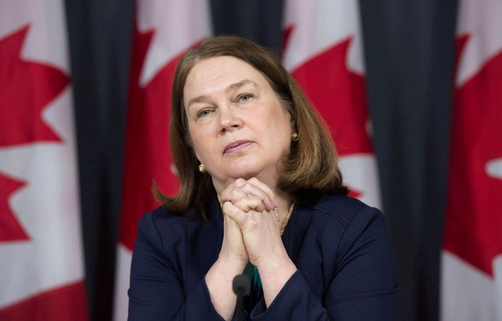 La ministre de la Santé Jane Philpott est elle-même médecin de formation.
