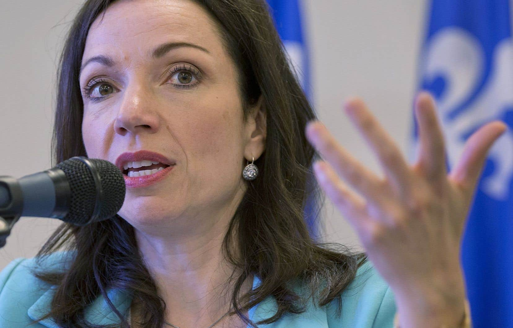 Martine Ouellet a fait son annonce à Montréal.