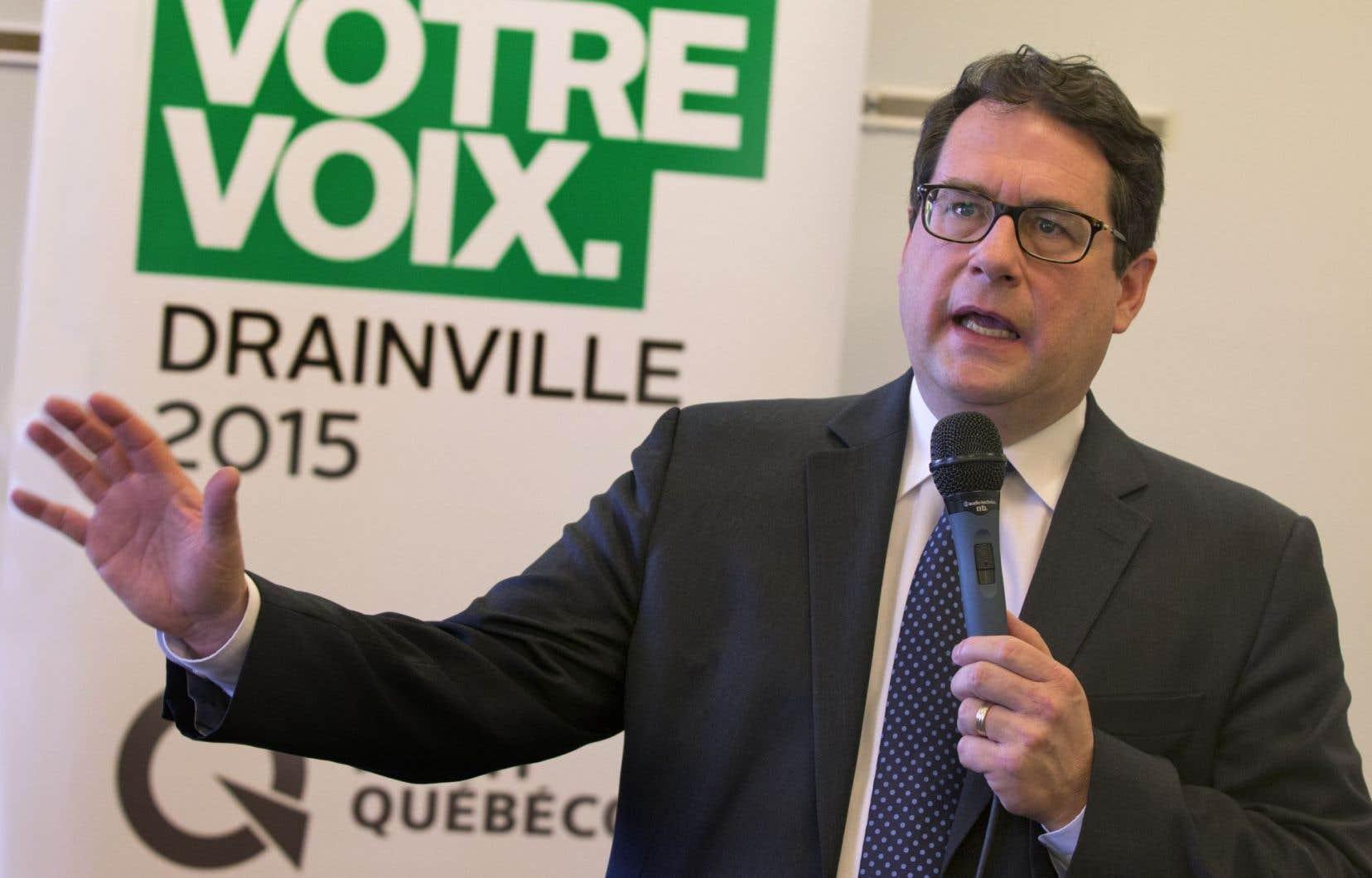 Le député de Marie-Victorin et leader parlementaire de l'opposition officielle, Bernard Drainville
