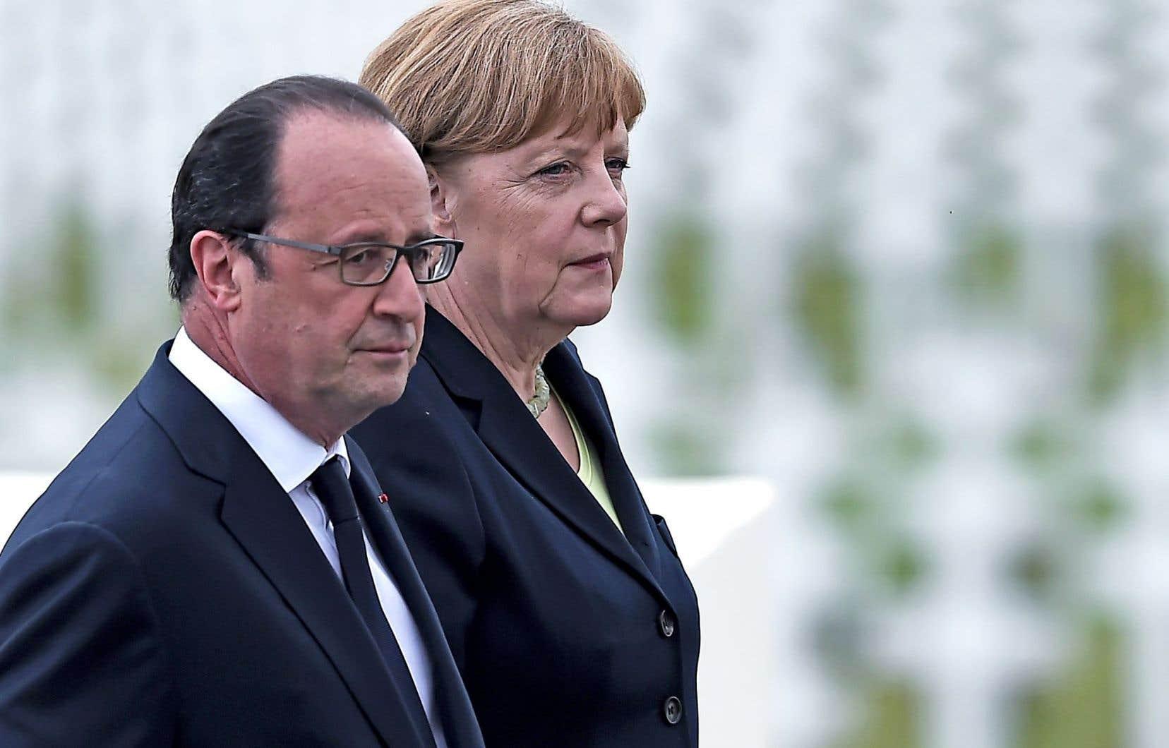 Le président français, François Hollande, et la chancelière allemande, Angela Merkel, se rencontreront à Berlin lundi.