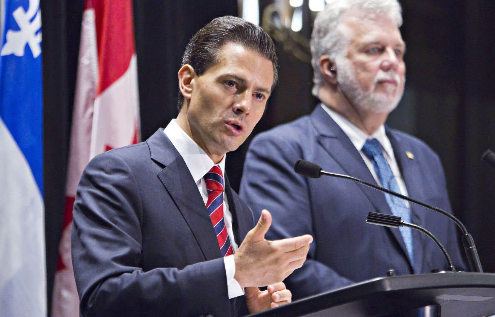 Le premier ministre Philippe Couillard est prêt à donner au président du Mexique, Enrique Peña Nieto, le temps nécessaire pour améliorer la situation des droits de la personne dans son pays.