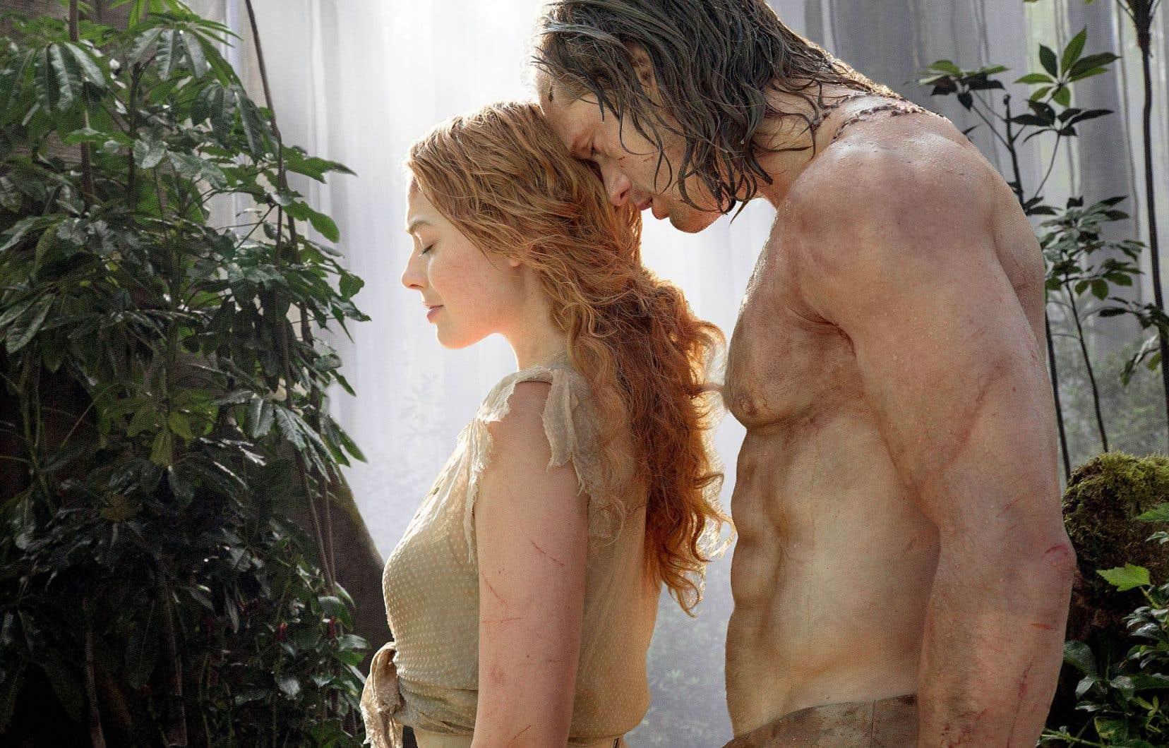 Margot Robbie et Alexander Skarsgard en Jane et Tarzan