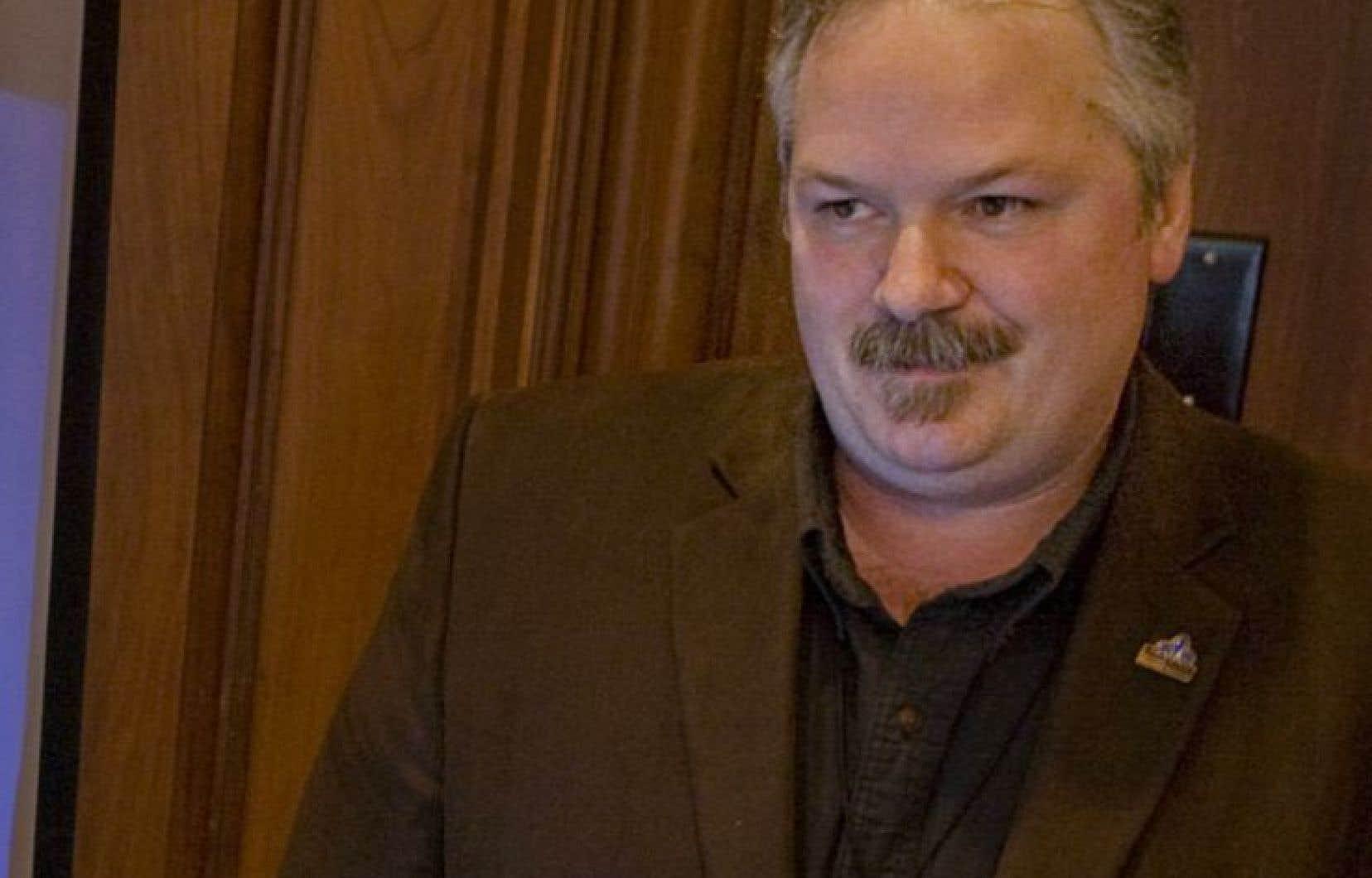 Le leader parlementaire du Bloc québécois, Luc Thériault