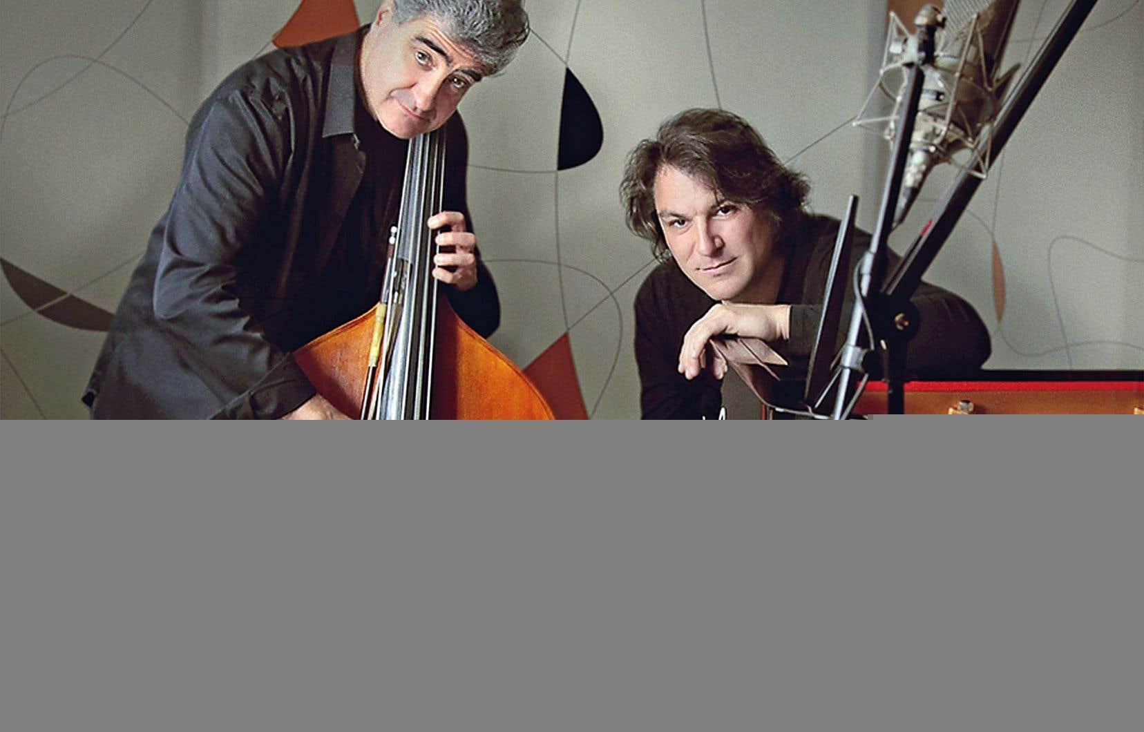 Renaud Garcia-Fons, le contrebassiste français des voyages imaginaires, et Dorantes, le pianiste gitan d'Andalousie qui marie sa musique au jazz et à la musique classique