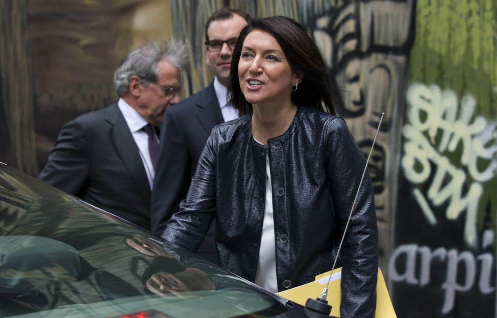 Nathalie Normandeau en 2014 lors de sa comparution à la Commission Charbonneau