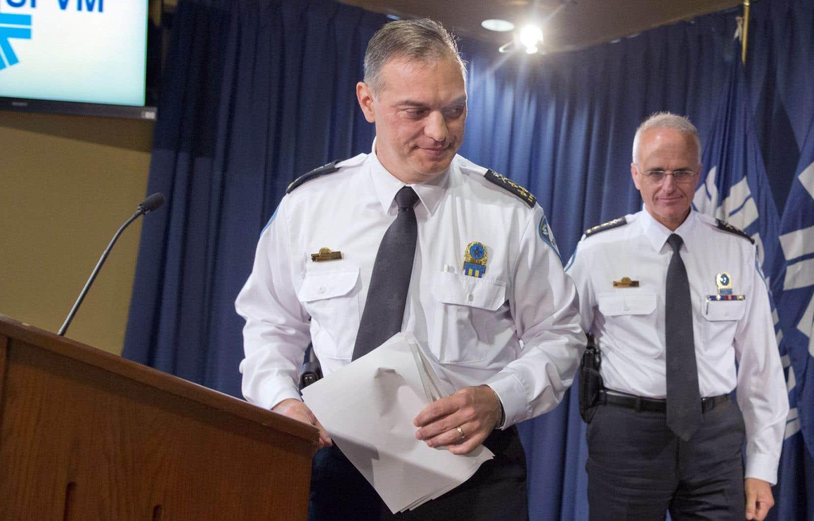 Le directeur du SPVM, Philippe Pichet, a annoncé les arrestations jeudi matin à Montréal.