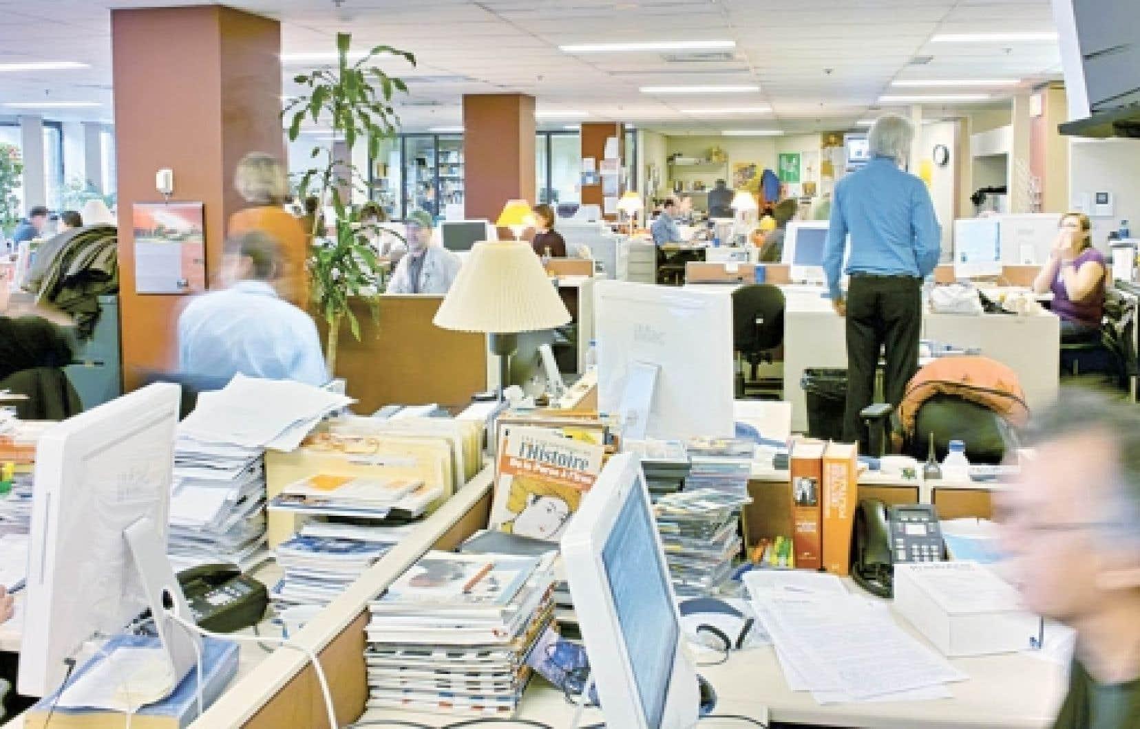 La salle de rédaction du Devoir, aujourd'hui