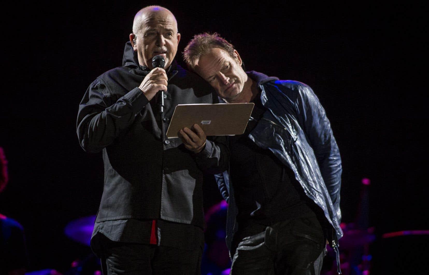 Peter Gabriel et Sting