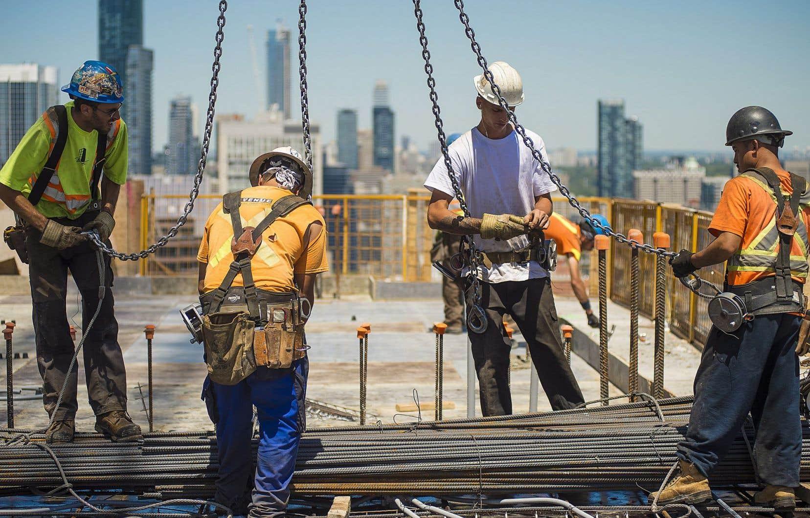 Le secteur de la construction a connu un déclin dans la création d'emplois.