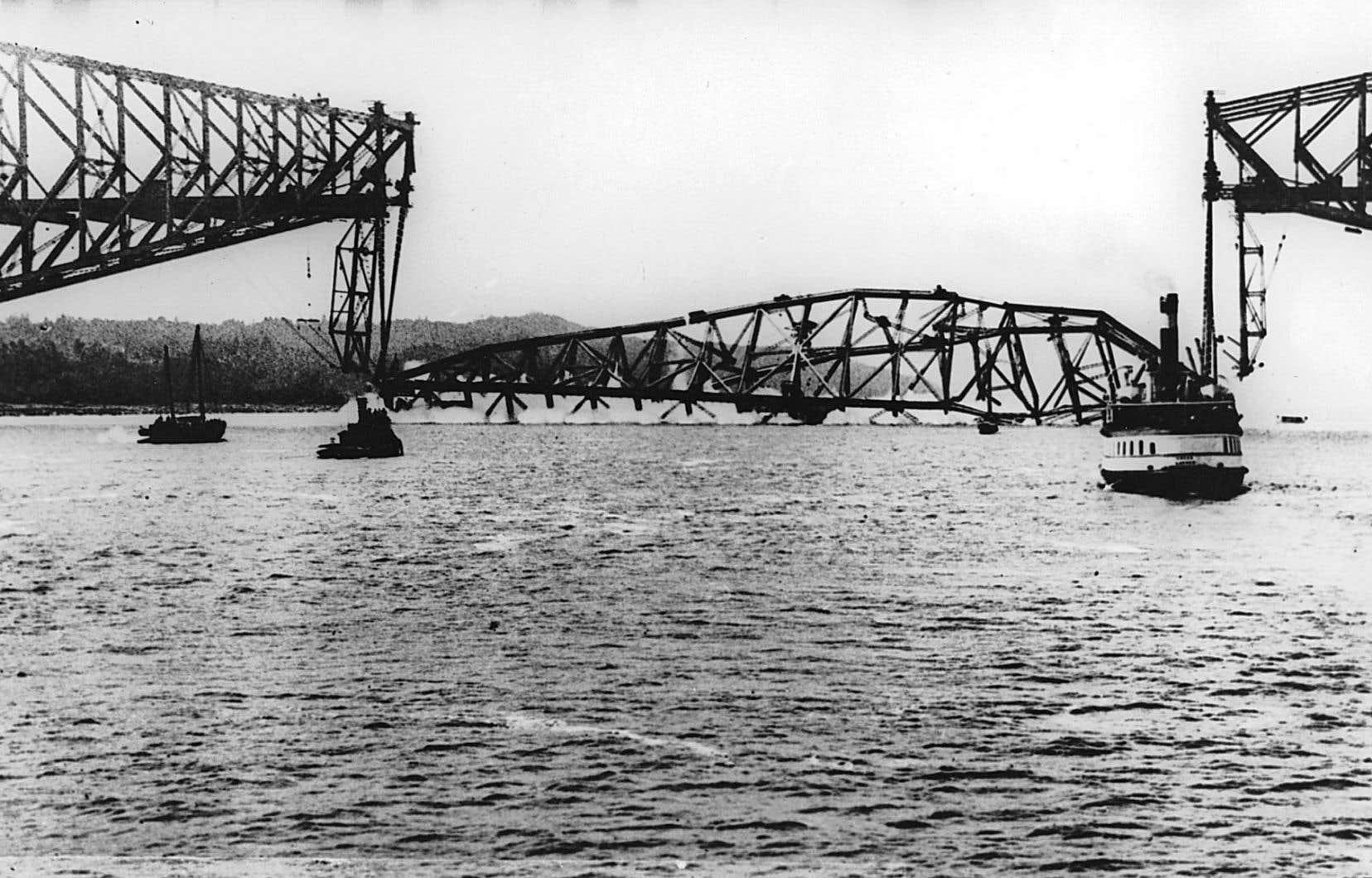 Effondrement de la travée centrale du pont de Québec, le 11 septembre 1916