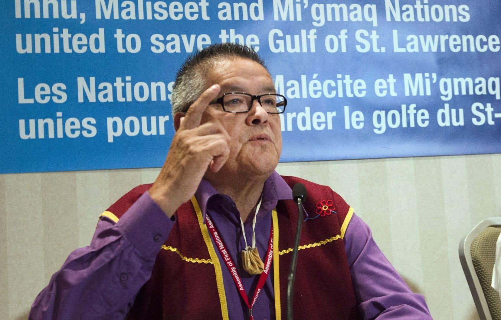 Le chef innu d'Ekuanitshit, Jean-Charles Piétacho