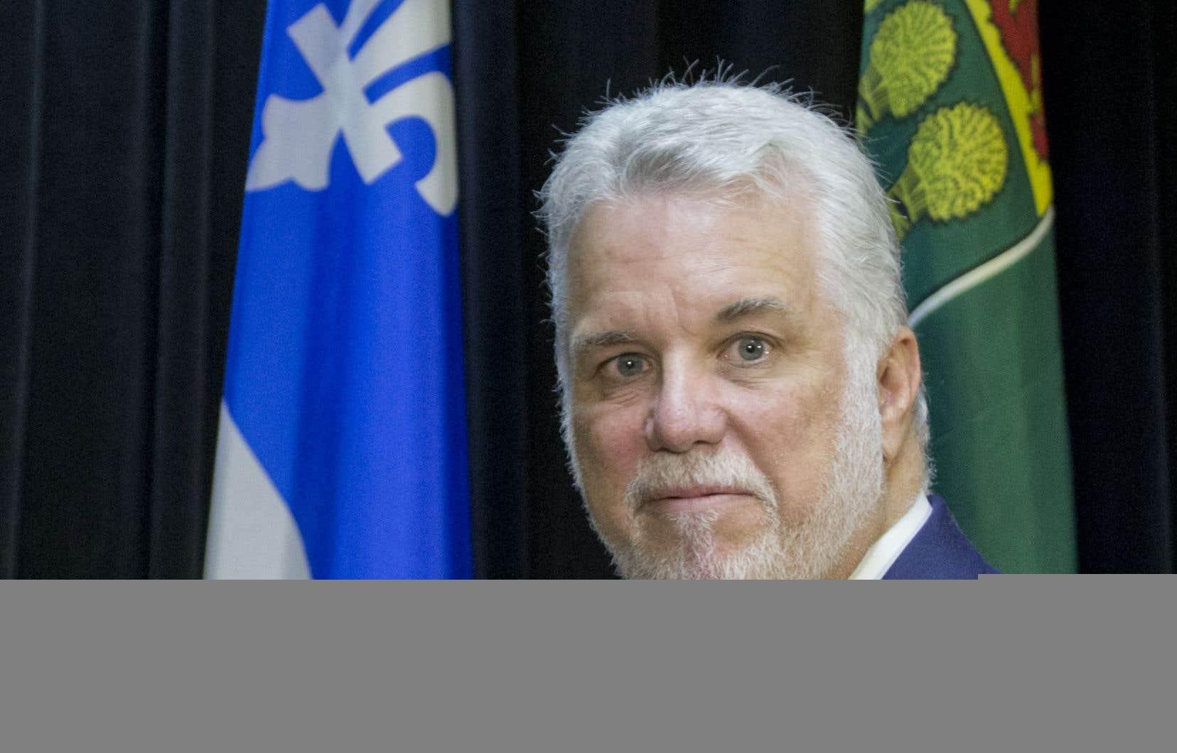 Philippe Couillard, dont le gouvernement a injecté 1milliard $US dans Bombardier, a répété que l'initiative appartient au transporteur aérien