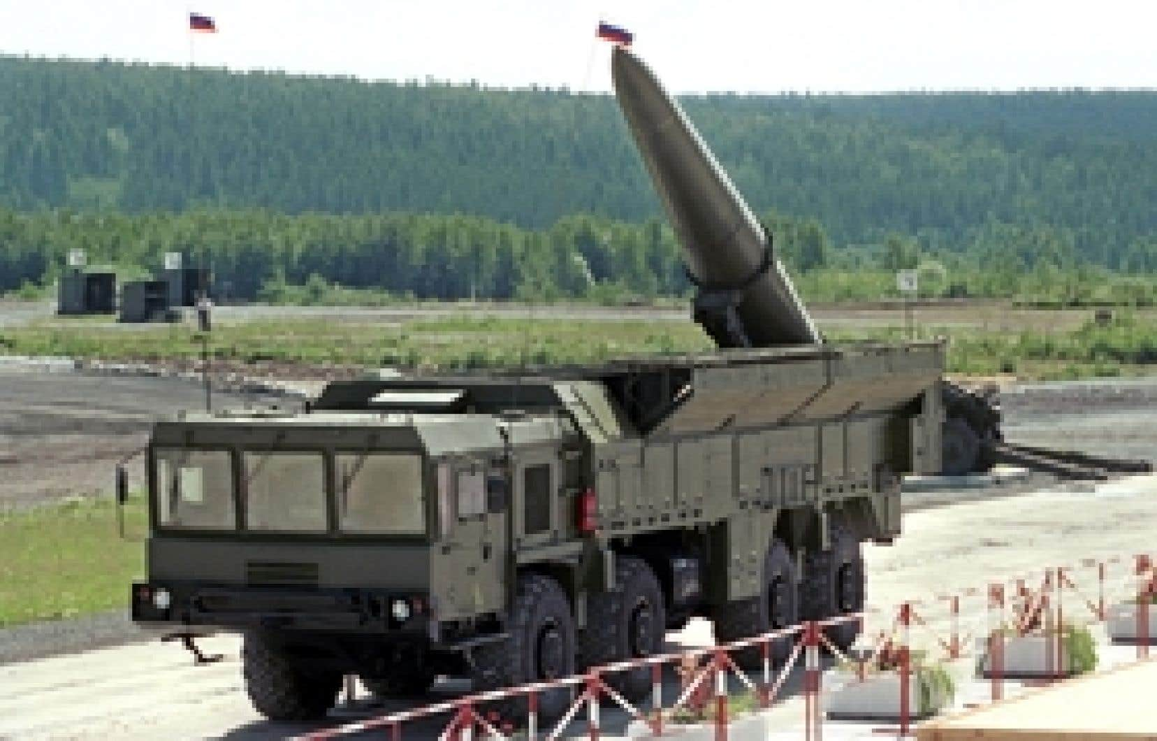 Un lanceur de missiles Iskander