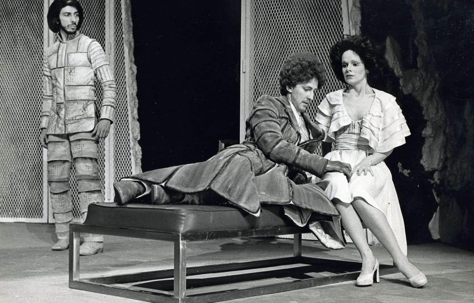 Une scène de «La charge de l'original épormyable», avec Jean-Guy Viau et Robert Gravel, en 1974