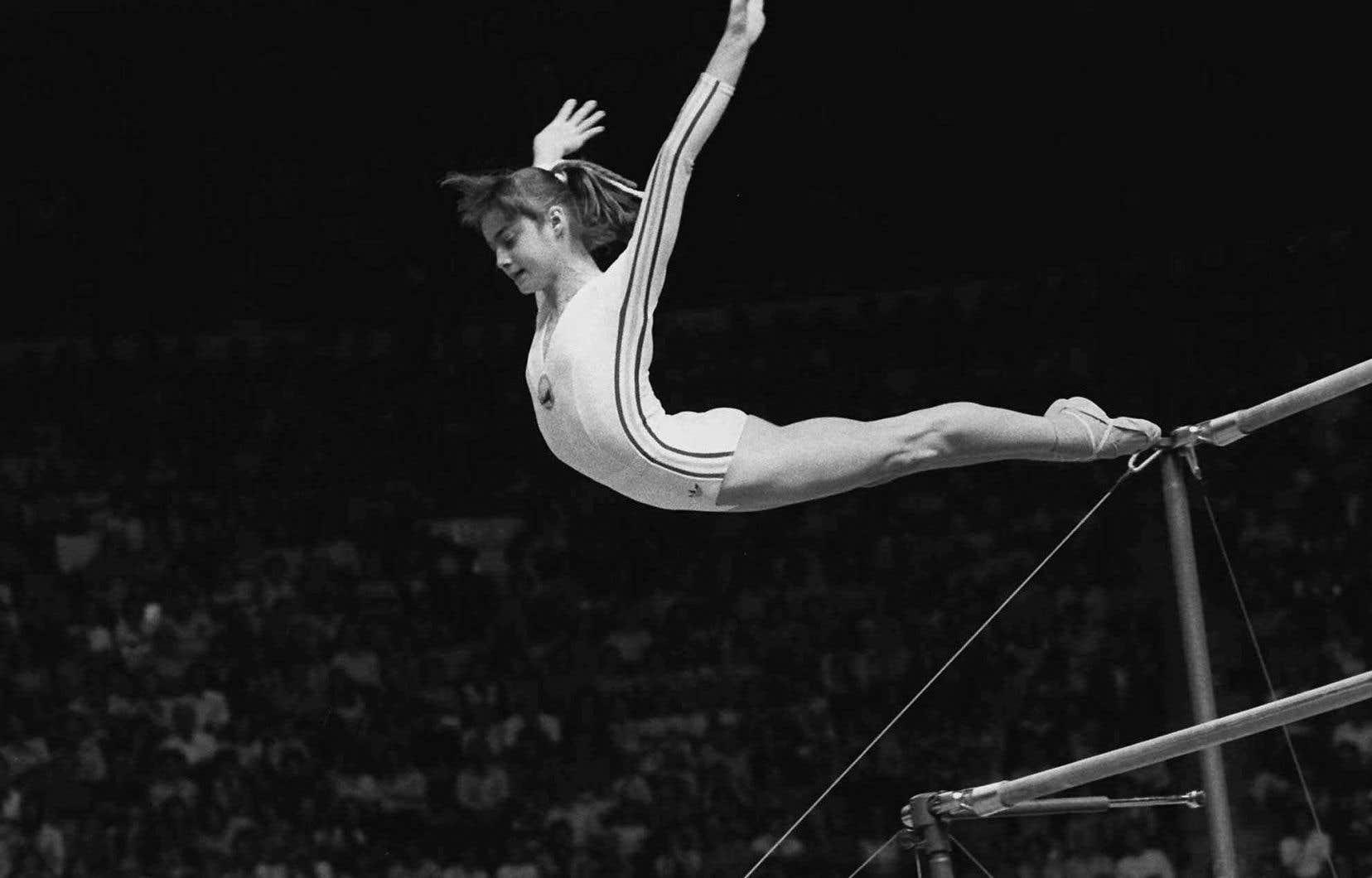 La petite reine des Jeux de Montréal, la Roumaine Nadia Comaneci