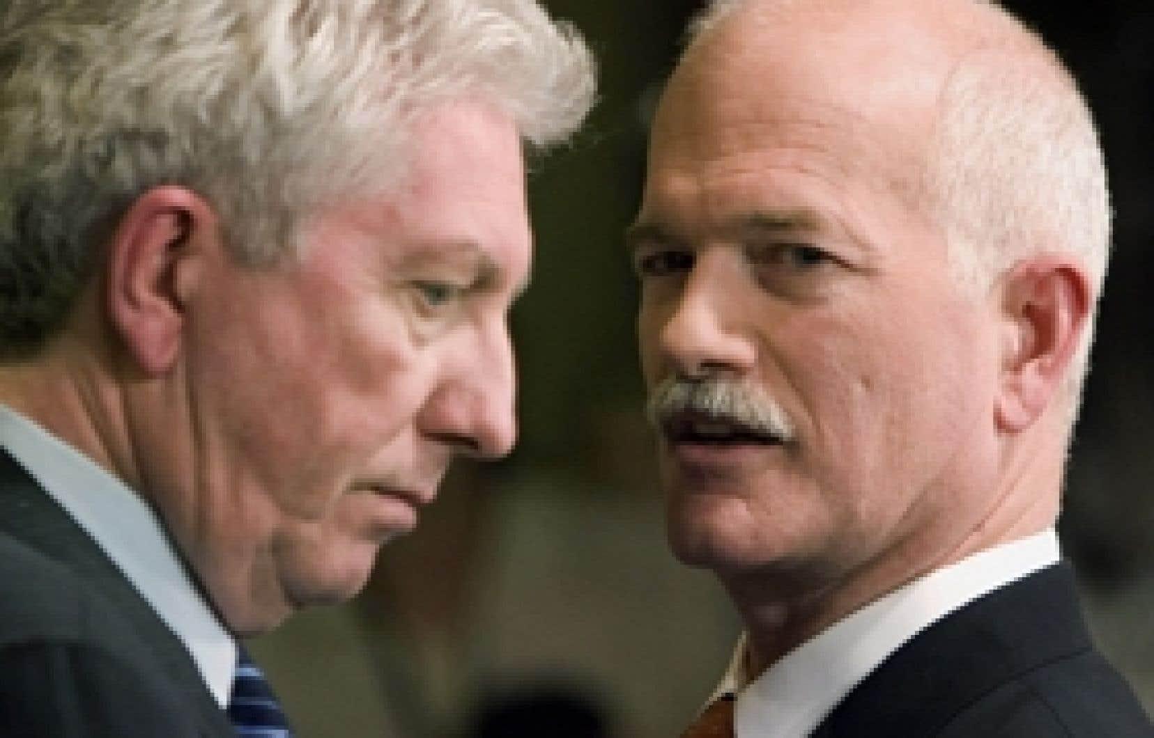 Les néo-démocrates et le Bloc québécois s'opposent au projet d'agence pancanadienne de réglementation des valeurs mobilières.
